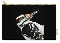 Carry-all Pouch featuring the photograph Tongue Of Woodpecker by Debbie Stahre