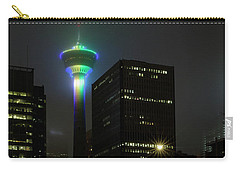 Carry-all Pouch featuring the photograph Tower Glow by Brad Allen Fine Art