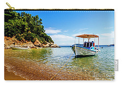 Traditional Colorful Boats In Old Town Of Skiathos Island, Spora Carry-all Pouch