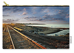Train Tracks By The Ocean Carry-all Pouch