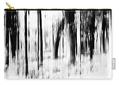 Carry-all Pouch featuring the photograph Tree Abstract In Black And White by Angie Tirado