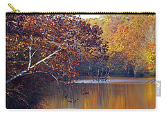 Carry-all Pouch featuring the photograph Trees At The Water's Edge by Mike Murdock