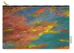 Triptych 1 Desert Sunset Carry-all Pouch