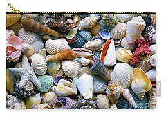 Carry-all Pouch featuring the photograph Tropical Treasure Seashells A91218 by Mas Art Studio