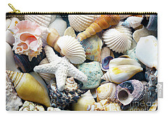 Carry-all Pouch featuring the photograph Tropical Treasure Seashells B91218 by Mas Art Studio