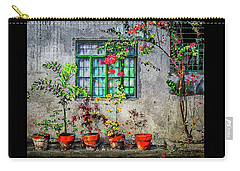 Carry-all Pouch featuring the photograph Tropical Wall by Michael Arend