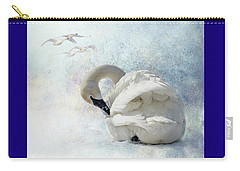 Trumpeter Textures #2 - Swan Preening Carry-all Pouch