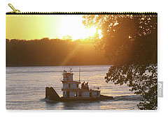 Tugboat On Mississippi River Carry-all Pouch