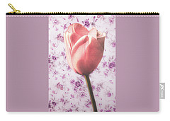 Carry-all Pouch featuring the photograph Tulip Contrasted by Michael Arend