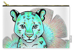Turquoise Leopards Carry-all Pouch