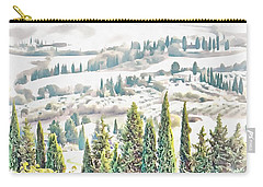Tuscan Countryside Near Pienza Carry-all Pouch