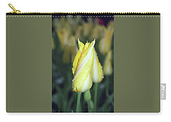 Twisted Yellow Tulip Carry-all Pouch