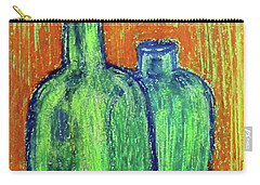 Two Green Bottles Carry-all Pouch