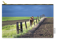 Two Horses In The Palouse Carry-all Pouch