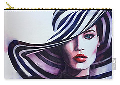 Carry-all Pouch featuring the painting Unapologeticly Herself by Michal Madison