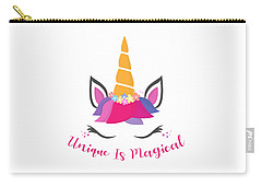 Unique Is Magical - Baby Room Nursery Art Poster Print Carry-all Pouch
