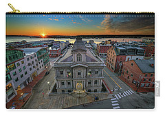 Carry-all Pouch featuring the photograph United States Custom House by Rick Berk