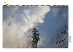 Carry-all Pouch featuring the photograph Up In Smoke by Carl Young