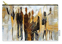 Carry-all Pouch featuring the digital art Us - Neutral Colours by Pennie McCracken