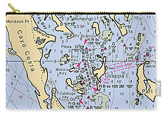 Useppa,cabbage Key,cayo Costa Nautical Chart Carry-all Pouch