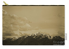 Utah Mountain In Sepia Carry-all Pouch