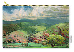 Carry-all Pouch featuring the painting Utah Spring by Steve Henderson