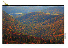 Carry-all Pouch featuring the photograph Valley Below Mount Greylock 2 by Raymond Salani III