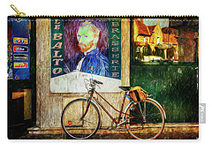 Carry-all Pouch featuring the photograph Van Gogh's Peugeot Bicycle by Craig J Satterlee