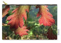Velvet New Oak Leaves Carry-all Pouch