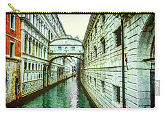 Carry-all Pouch featuring the photograph Venice Bridge Of Sighs by Kay Brewer