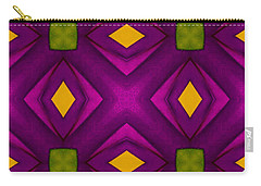 Vibrant Geometric Design Carry-all Pouch