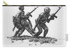 Vietnam Memorial Statue Carry-all Pouch