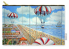 View From Parachute Jump Towel Version Carry-all Pouch