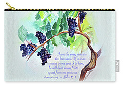 Vine And Branch With Scripture Carry-all Pouch