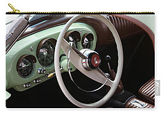 Carry-all Pouch featuring the photograph Vintage Kaiser Darrin Automobile Interior by Debi Dalio