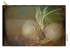 Carry-all Pouch featuring the mixed media Vintage Onions 3 by Lynda Lehmann