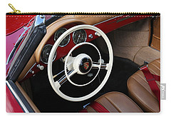 Carry-all Pouch featuring the photograph Vintage Red Convertible Interior by Debi Dalio
