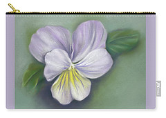 Carry-all Pouch featuring the pastel Viola Purple And Yellow by MM Anderson