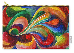 Vivid Abstract Watercolor Carry-all Pouch