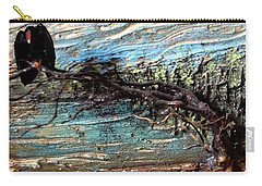 Vulture With Impasto Sky Carry-all Pouch