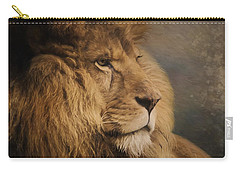 Carry-all Pouch featuring the painting Wait For The Answer - Wildlife Art by Jordan Blackstone