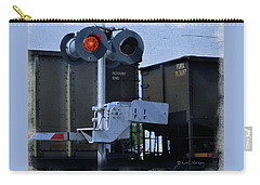 Waiting At The Rr Crossing Carry-all Pouch