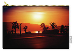 Carry-all Pouch featuring the photograph Walking Down The Street On Sunset by Milena Ilieva