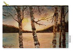 Carry-all Pouch featuring the painting Warm Fall Day by Sher Nasser