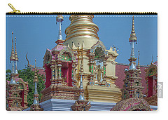 Carry-all Pouch featuring the photograph Wat Ban Kong Phra That Chedi Pinnacle Dthlu0499 by Gerry Gantt