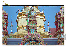 Carry-all Pouch featuring the photograph Wat Ban Kong Phra That Chedi Window Dthlu0504 by Gerry Gantt