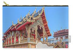 Carry-all Pouch featuring the photograph Wat Chai Mongkon Phra Ubosot Dthlu0391 by Gerry Gantt