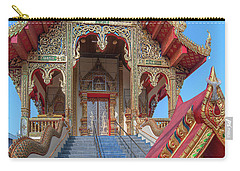 Carry-all Pouch featuring the photograph Wat Chai Mongkon Phra Ubosot Entrance Dthlu0394 by Gerry Gantt