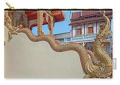 Carry-all Pouch featuring the photograph Wat Chai Mongkon Phra Ubosot Makara And Naga Guardian Dthlu0396 by Gerry Gantt