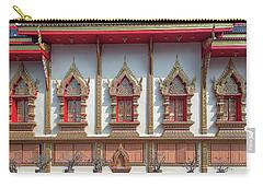 Carry-all Pouch featuring the photograph Wat Chai Mongkon Phra Ubosot Windows Dthlu0398 by Gerry Gantt